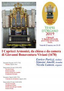 Vespri d'Organo @ Chiesa di S. Ignazio di Lojola