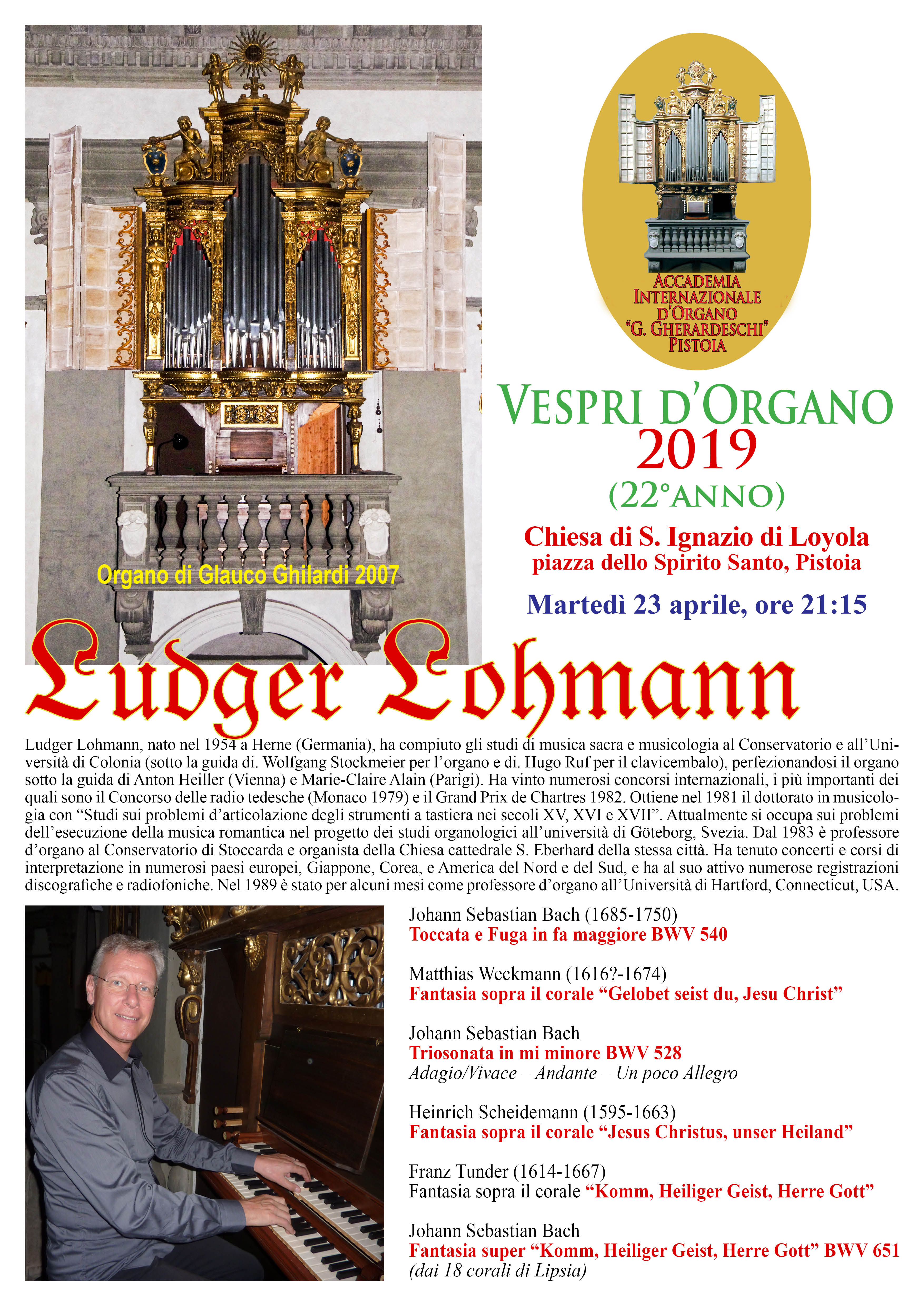 Vespro d'Organo @ Chiesa di S. Ignazio di Loyola