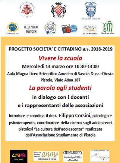 Vivere la scuola @ Aula Magna del Liceo Scientifico Amedeo di Savoia Duca D'Aosta