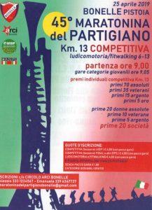 Maratonina del Partigiano @ Bonelle (Pistoia)