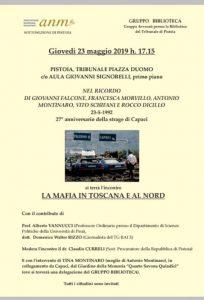 La mafia in Toscana e al Nord @ Aula Signorelli - Palazzo del Tribunale