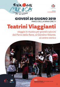 Festa della Musica - Teatrini viaggianti @ Parco della Rana - Giardino volante - Centro storico