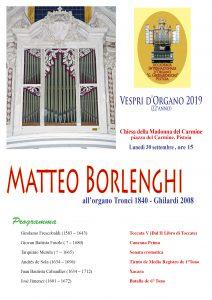 Vespro d'organo @ Chiesa della Madonna del Carmine